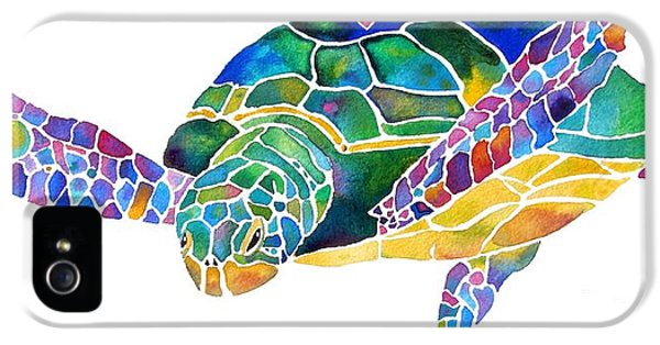 Turtle iPhone 5 Case - Sea Turtle Celebration 4 Prints Only by Jo Lynch