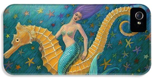 Seahorse iPhone 5 Case - Seahorse Mermaid by Sue Halstenberg
