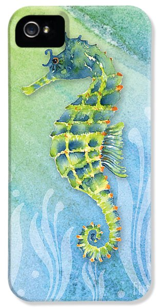 Seahorse Blue Green IPhone 5 Case by Amy Kirkpatrick