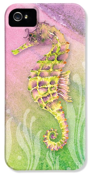 Seahorse Violet IPhone 5 Case by Amy Kirkpatrick