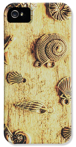 Pendant iPhone 5 Case - Seashell Shaped Pendants On Wooden Background by Jorgo Photography - Wall Art Gallery