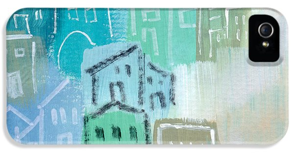 Town iPhone 5 Case - Seaside City- Art By Linda Woods by Linda Woods
