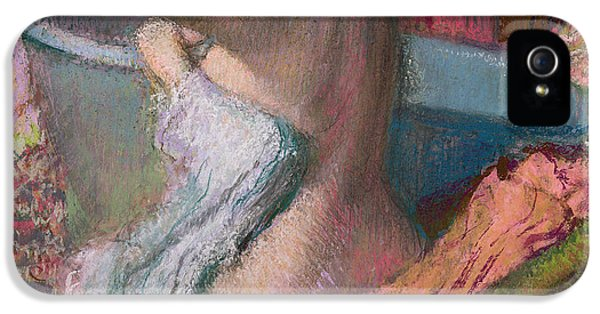 Seated Bather IPhone 5 Case by Edgar Degas