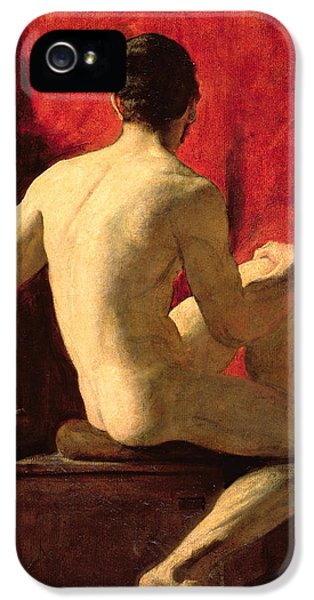 Seated Male Model IPhone 5 Case by William Etty