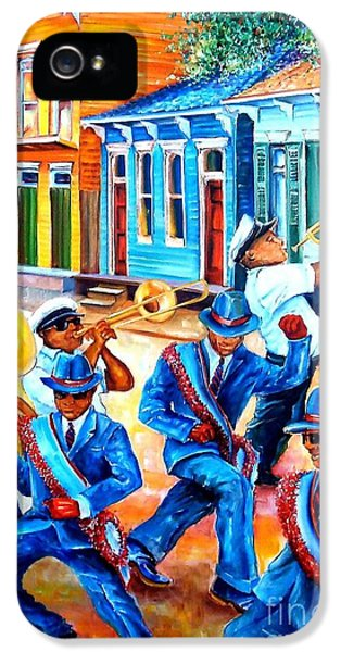 Trombone iPhone 5 Case - Second Line In Treme by Diane Millsap