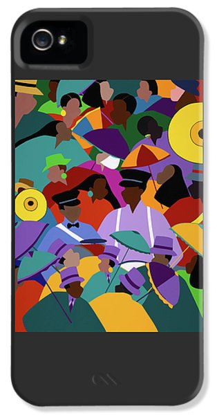 iPhone 5 Case - Second Line New Orleans by Synthia SAINT JAMES