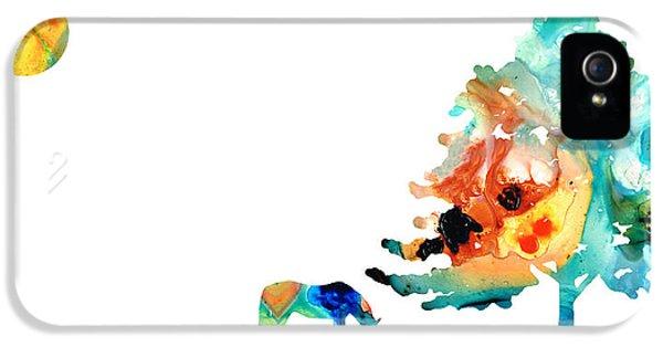 Seeking Shelter - Colorful Horse Art Painting IPhone 5 Case