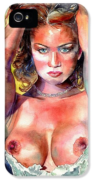 Nudes iPhone 5 Case - Selena by Suzann's Art