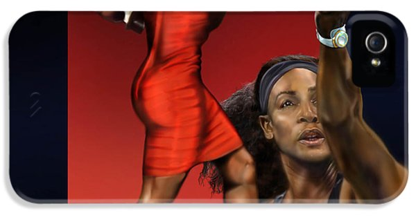 Serena Williams iPhone 5 Case - Sensuality Under Extreme Power - Serena The Shape Of Things To Come by Reggie Duffie