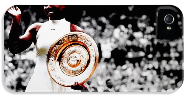Serena 2016 Wimbledon Victory IPhone 5 / 5s Case by Brian Reaves