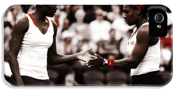 Serena Williams iPhone 5 Case - Serena And Venus Williams by Brian Reaves