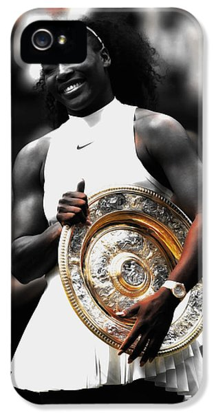 Serena Williams iPhone 5 Case - Serena Big Prize by Brian Reaves