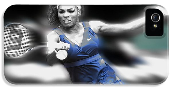 Serena Williams iPhone 5 Case - Serena On The Move by Brian Reaves