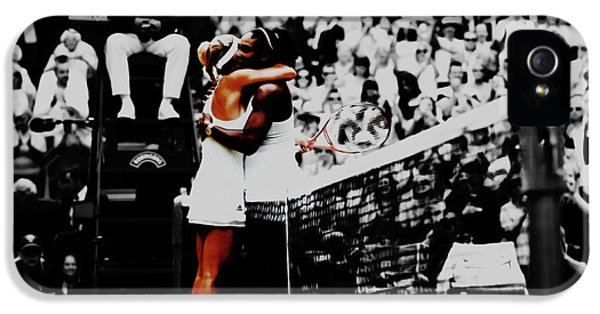 Serena Williams And Angelique Kerber IPhone 5 Case by Brian Reaves