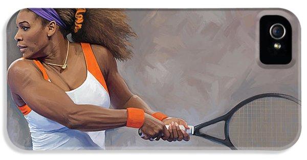 Serena Williams iPhone 5 Case - Serena Williams Artwork by Sheraz A