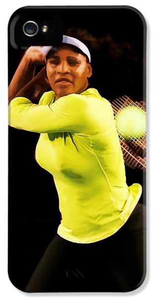 Serena Williams iPhone 5 Case - Serena Williams Bamm by Brian Reaves
