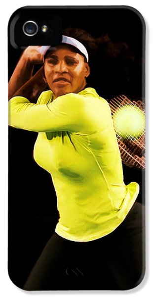 Serena Williams Bamm IPhone 5 Case by Brian Reaves