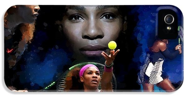 Serena Williams iPhone 5 Case - Serena Williams by Carl Gouveia