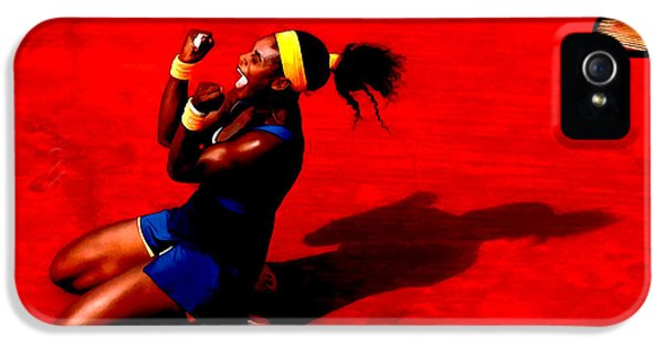 Serena Williams iPhone 5 Case - Serena Williams French Open Victory by Brian Reaves