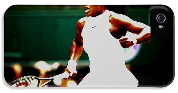 Serena Williams Making History IPhone 5 Case by Brian Reaves