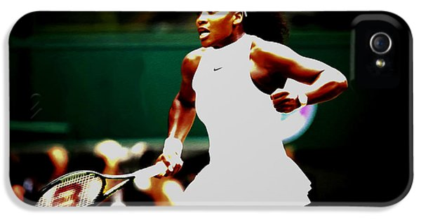 Serena Williams iPhone 5 Case - Serena Williams Making History by Brian Reaves