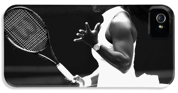Serena Williams iPhone 5 Case - Serena Williams Making Magic Happen by Brian Reaves