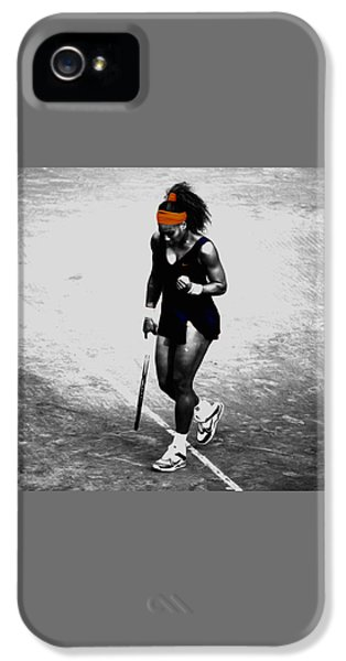 Serena Williams Match Point 3a IPhone 5 Case by Brian Reaves