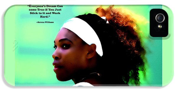 Serena Williams Motivational Quote 1a IPhone 5 Case