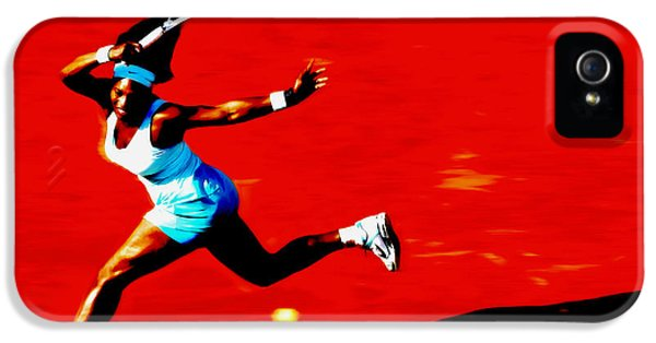 Serena Williams iPhone 5 Case - Serena Williams Never Give Up by Brian Reaves
