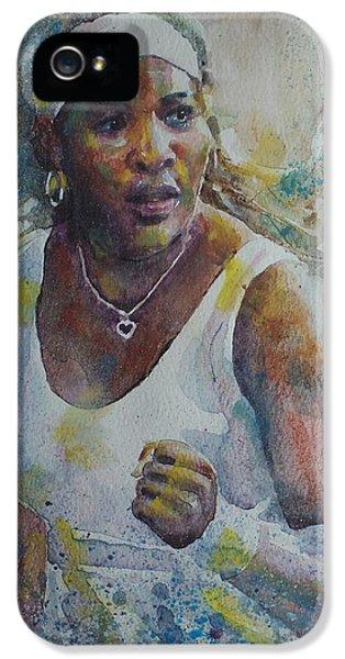 Serena Williams - Portrait 5 IPhone 5 Case by Baresh Kebar - Kibar