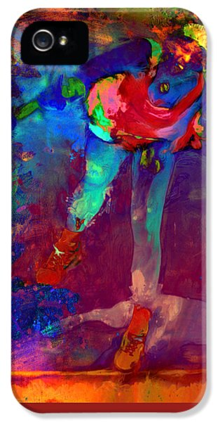 Serena Williams Return Explosion IPhone 5 Case by Brian Reaves