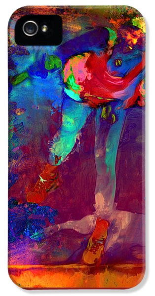 Serena Williams iPhone 5 Case - Serena Williams Return Explosion by Brian Reaves