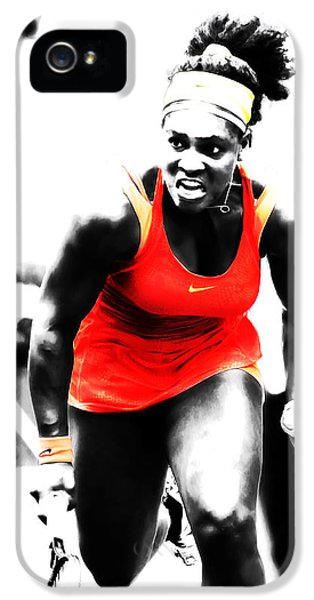 Serena Williams iPhone 5 Case - Serena Williams Go Get It by Brian Reaves