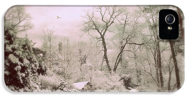 IPhone 5 Case featuring the photograph Serene In Snow by Jessica Jenney