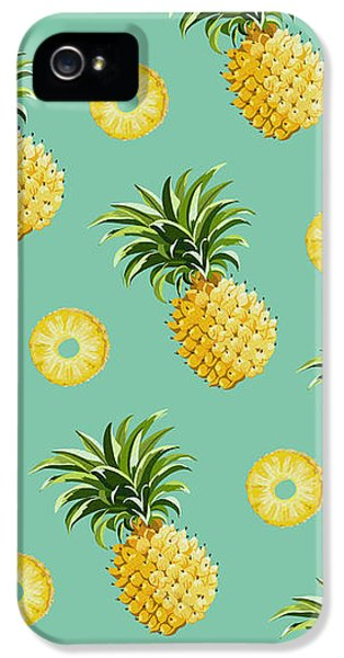 Set Of Pineapples IPhone 5 Case by Vitor Costa
