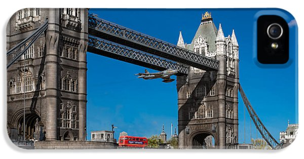 IPhone 5 Case featuring the photograph Seven Seconds - The Tower Bridge Hawker Hunter Incident  by Gary Eason