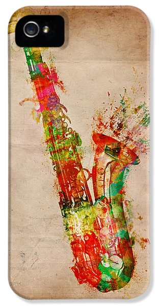 Saxophone iPhone 5 Case - Sexy Saxaphone by Nikki Smith