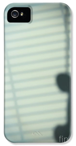 Shadow Of Hanging Phone Receiver IPhone 5 Case by Amanda Elwell