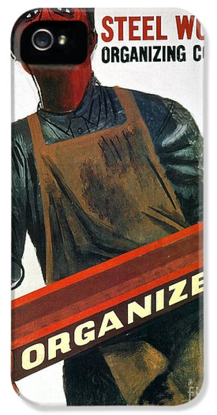 1930s iPhone 5 Cases - Shahn: Steel Union Poster iPhone 5 Case by Granger