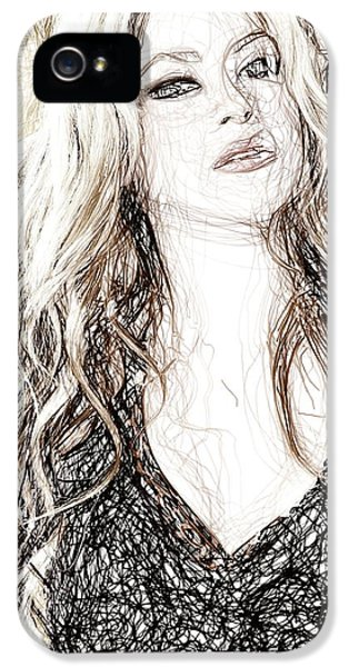 Shakira - Pencil Art IPhone 5 Case