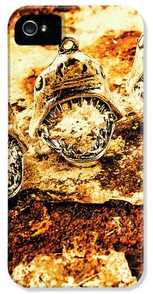 Pendant iPhone 5 Case - Shark Pendants On Rusty Marine Background by Jorgo Photography - Wall Art Gallery