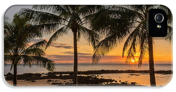 Pacific Ocean iPhone 5 Case - Sharks Cove Sunset 4 - Oahu Hawaii by Brian Harig