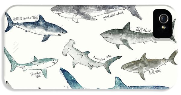 Sharks - Landscape Format IPhone 5 Case