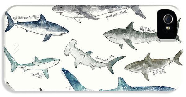 Sharks - Landscape Format IPhone 5 Case by Amy Hamilton