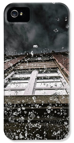 Shattering Pieces Of Glass Falling From Window IPhone 5 Case by Jorgo Photography - Wall Art Gallery