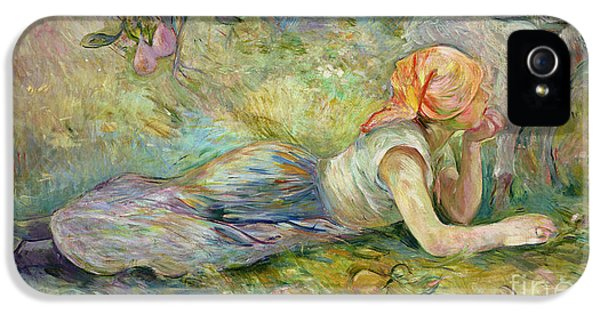 Shepherdess Resting IPhone 5 Case by Berthe Morisot
