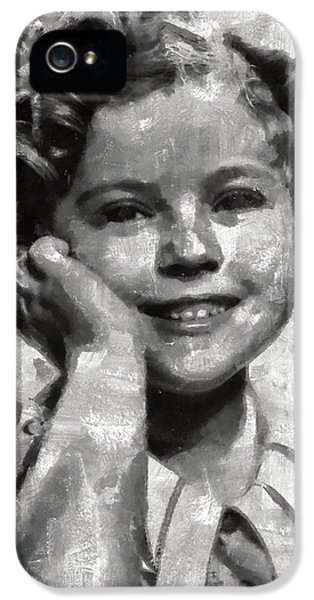 Shirley Temple By Mary Bassett IPhone 5 Case by Mary Bassett