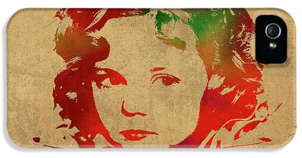 Shirley Temple Watercolor Portrait IPhone 5 Case by Design Turnpike