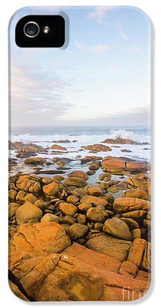 IPhone 5 Case featuring the photograph Shore Calm Morning by Jorgo Photography - Wall Art Gallery