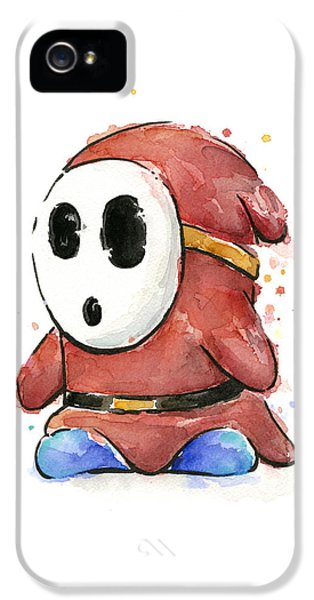 Shy Guy Watercolor IPhone 5 Case